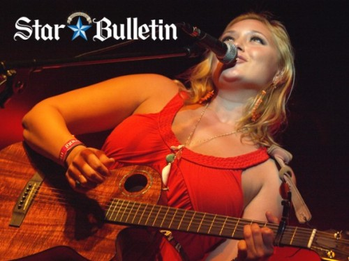 Anuhea rockin Noelani Designs in the Star Bulletin!