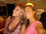Anuhea and I in our leaf earrings