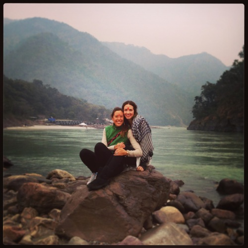 Myself and Erica enjoying the beauty, power and grace of the Ganges River.