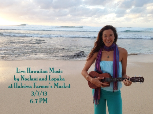 Join us for live Hawaiian music tonight from 6-7PM, also at the market!